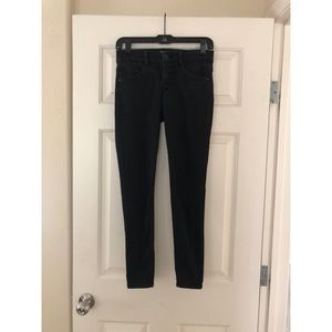 Faded black ankle pants